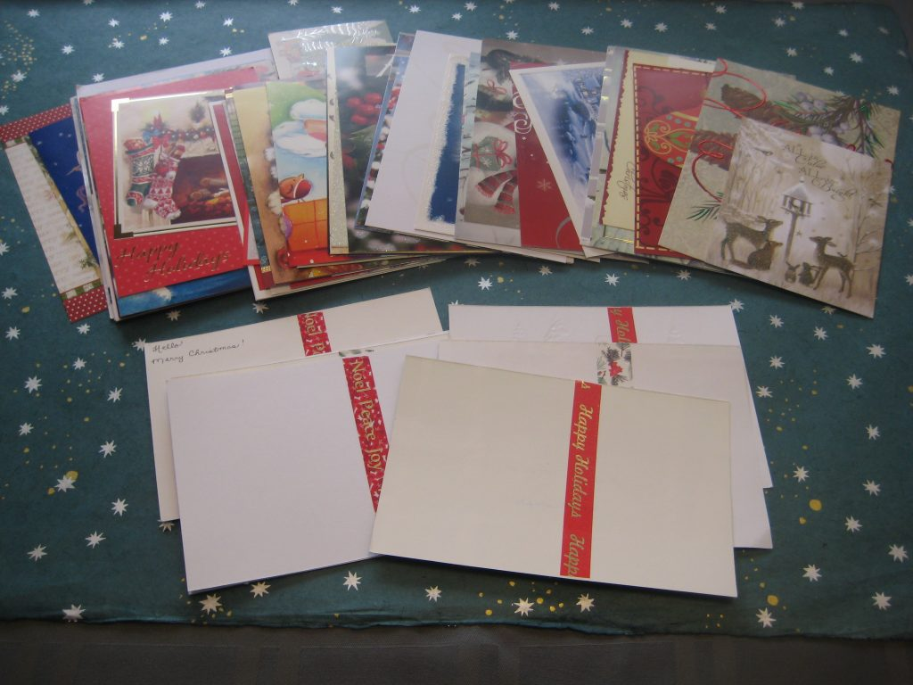 assorted Christmas postcards front and back
