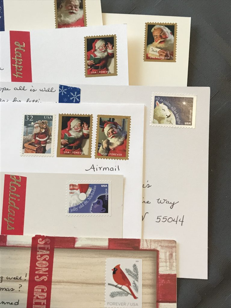 postcards with stamps