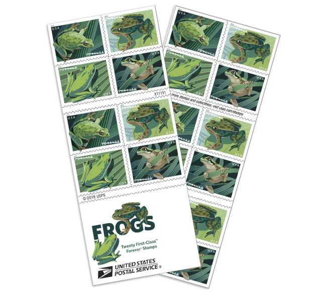 frog postage stamps