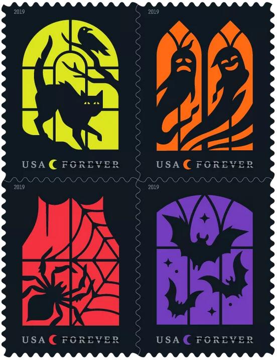 Halloween Stamps 2019 Letters Journals