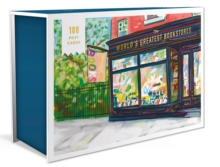 picture of the box set of 100 bookstore postcards