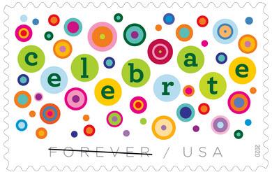 Celebrate postage stamp 2020