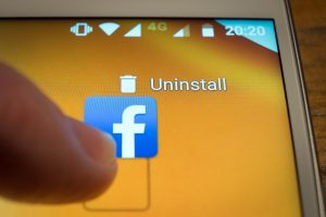 FB icon on computer uninstall option
