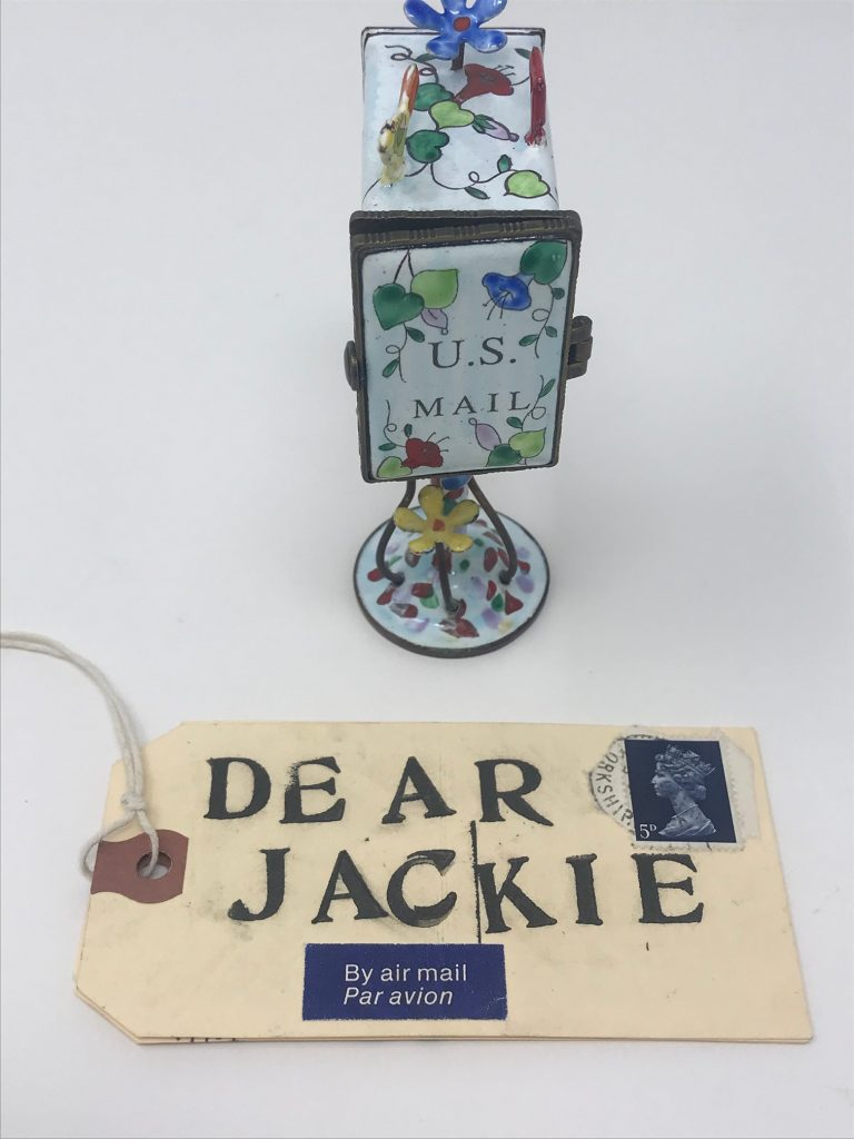 mini mailbox with tag letter