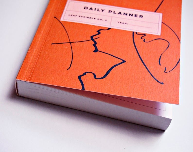 planner cover and side view