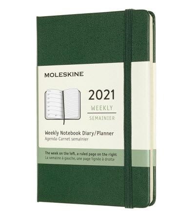green moleskin weekly