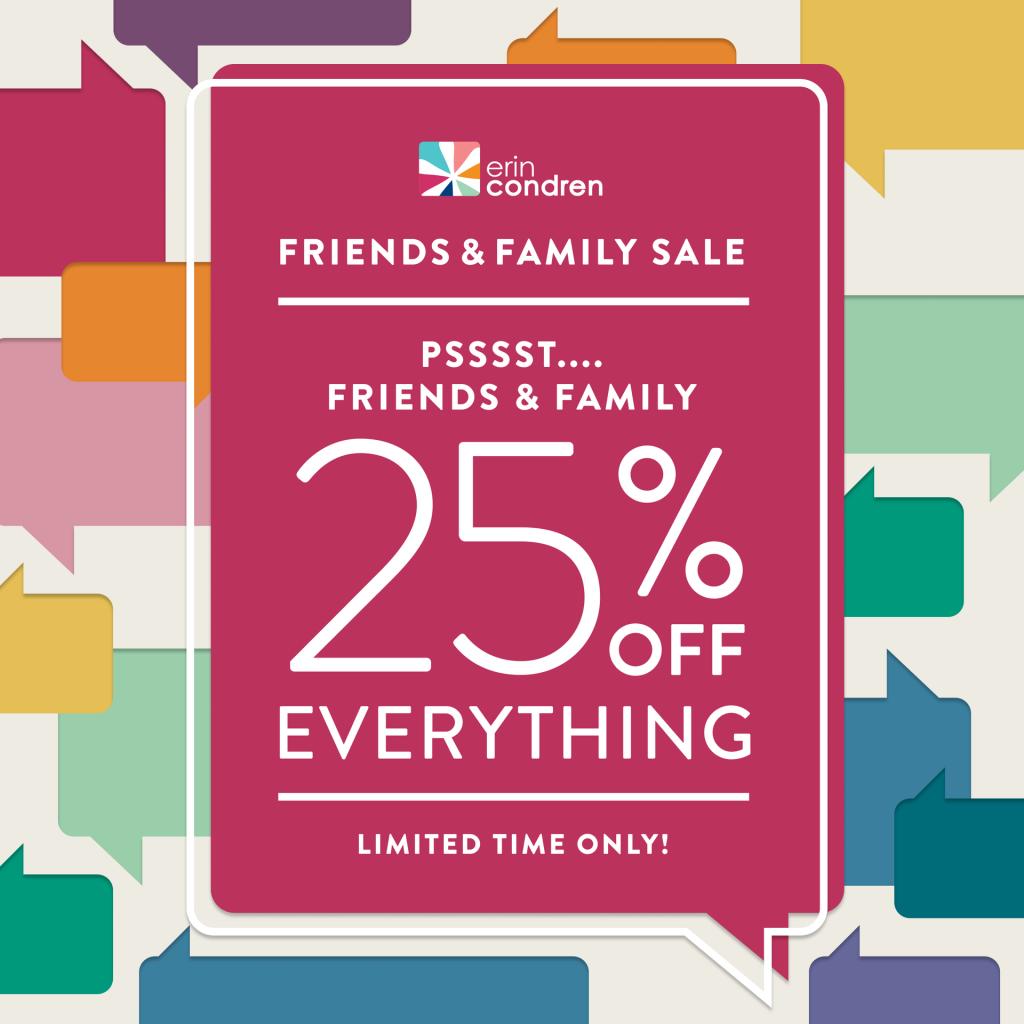 25%off sale for Erin Condren Planners