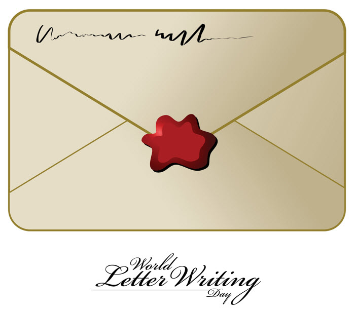 envelope with red wax seal