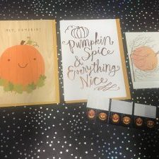 greeting cards and postage stamps