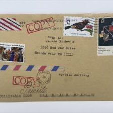 mail art envelope