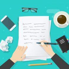 illustration of letter writing